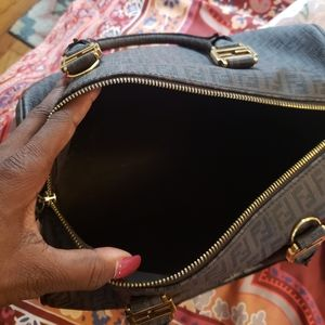 Fendi Bags - Fendi Zucca Boston Bag